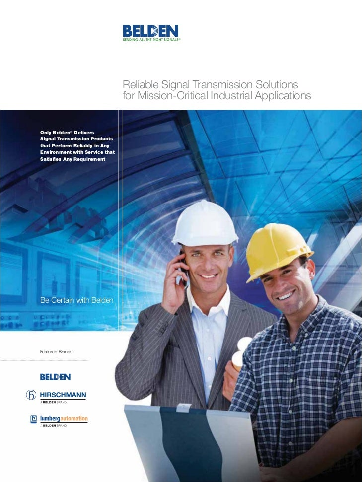 Reliable Signal Transmission Solutions                                for Mission-Critical Industrial ApplicationsOnly Bel...