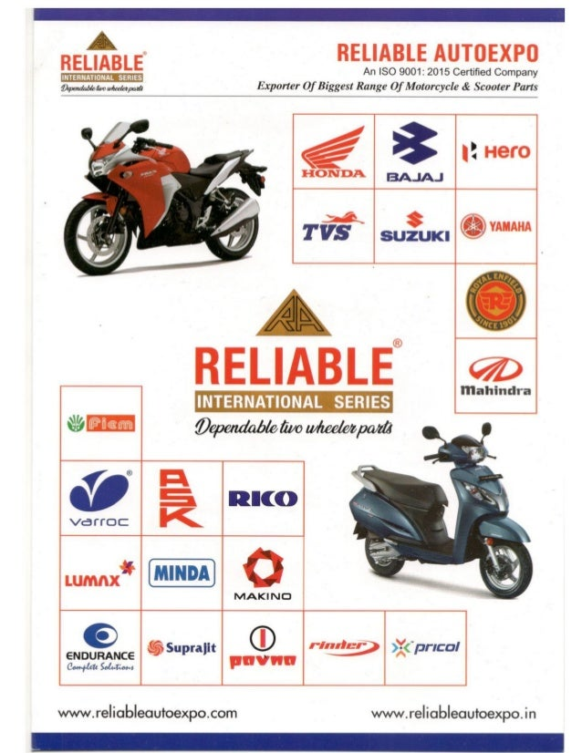 Motorcycle & Scooter Spare Parts By Reliable Autoexpo