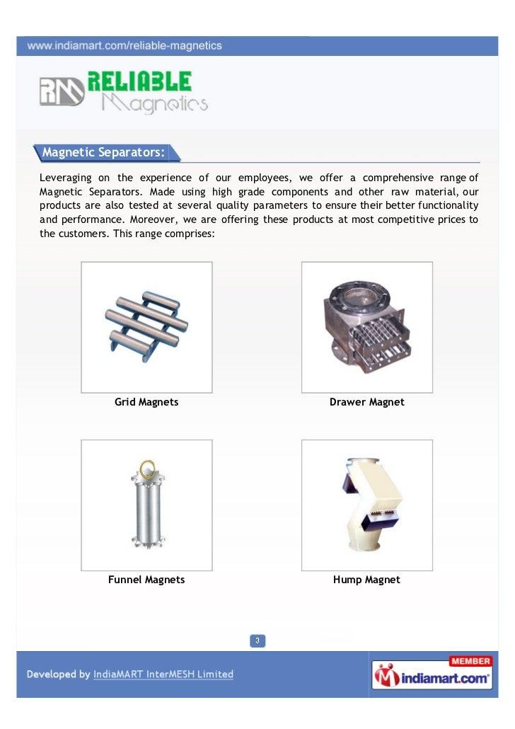 Reliable Magnetics, Thane, Magnetic Separators Slide 3