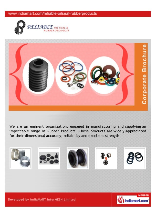 We are an eminent organization, engaged in manufacturing and supplying animpeccable range of Rubber Products. These produc...