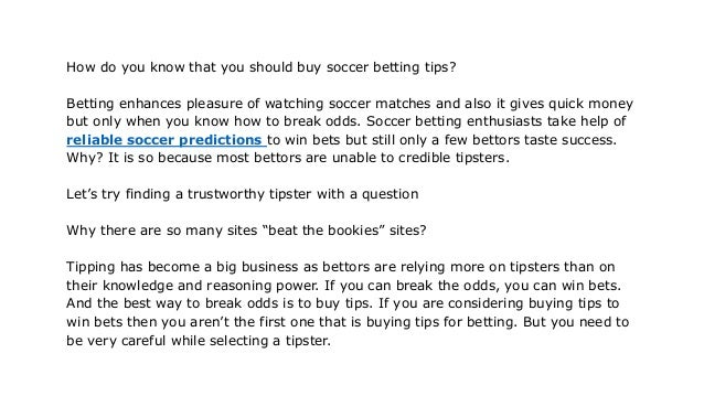 Reliable soccer predictions