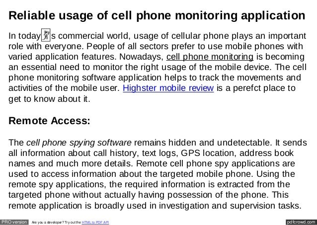 pdfcrowd.comPRO version Are you a developer? Try out the HTML to PDF API Reliable usage of cell phone monitoring applicati...