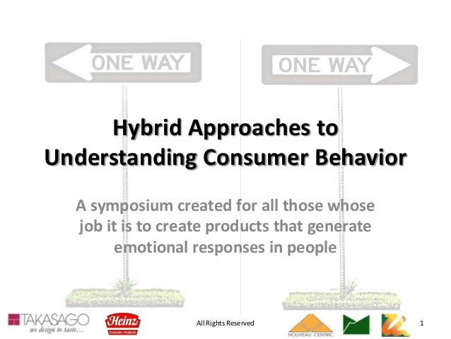 All Rights Reserved 1 Hybrid Approaches to Understanding Consumer Behavior A symposium created for all those whose job it ...