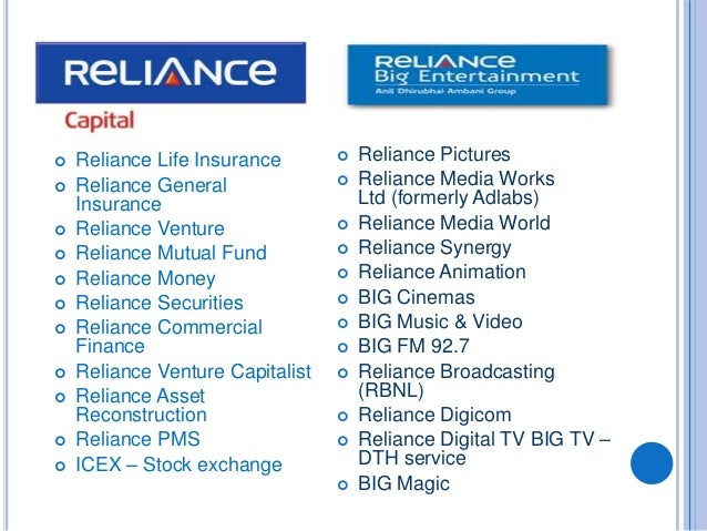 Reliance industries and group of companies