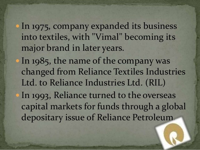 management of reliance group of industries Reliance wealth management  banking and consulting industries at the domestic as well as international level  managing a group of b2b and b2c lending businesses.