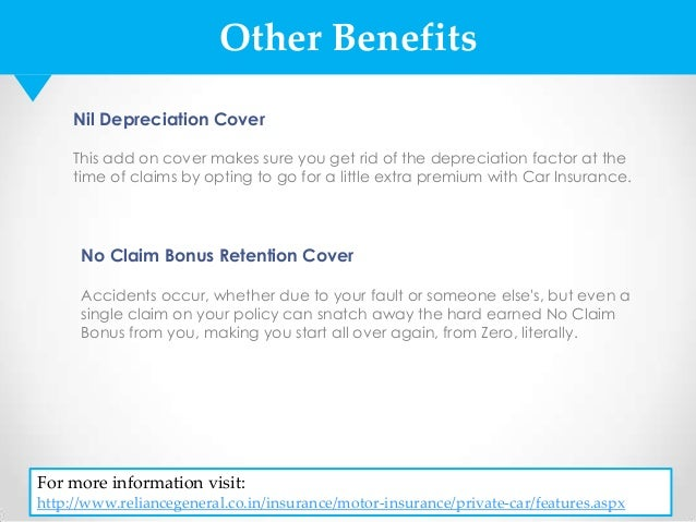 Image of: Depreciation Slideshare Car Insurance Policy By Reliance General Insurance