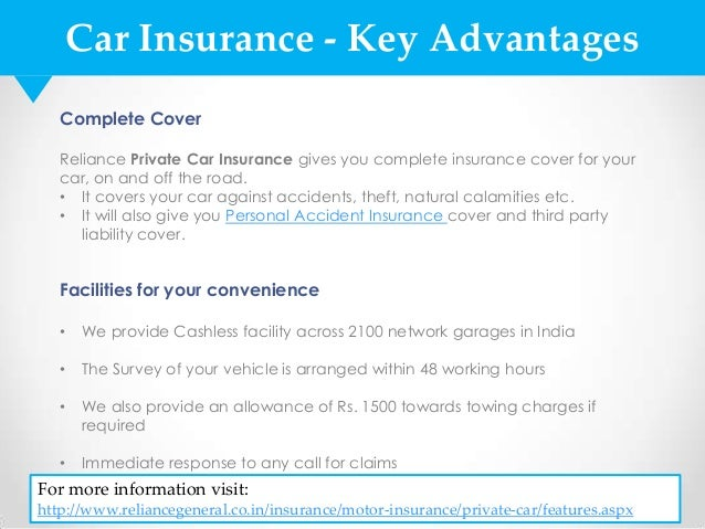 Image of: Bike Car Insurance Slideshare Car Insurance Policy By Reliance General Insurance