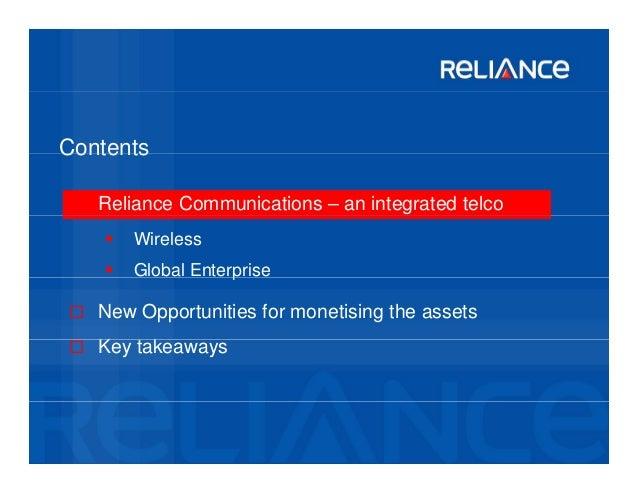 reliance communication achievements Reliance communications is the flagship company of the anil dhirubhai ambani   achievements awards fete december 20 – reliance communications.