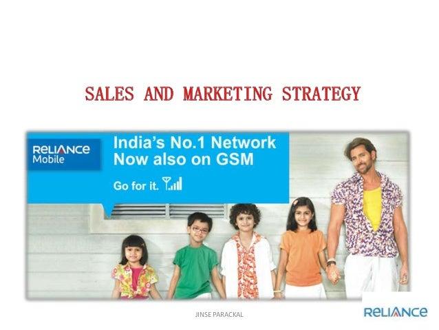 Marketing strategy of reliance communications