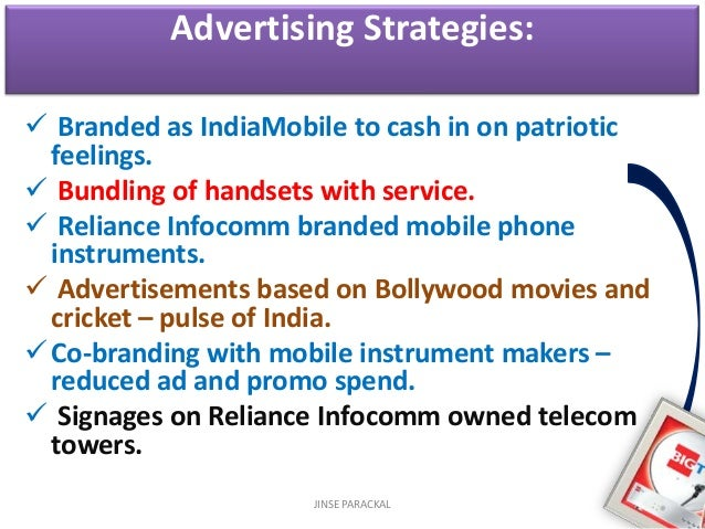 marketing strategies of reliance communication The market environment has also changed due to globalization of marketing strategies,  increased reliance on targeted communication methods,.
