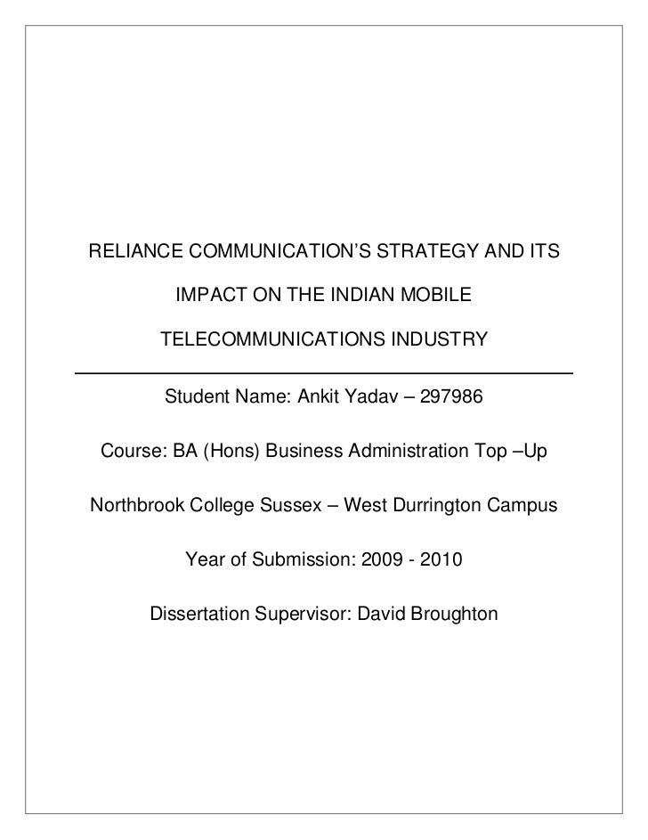 Communications dissertation