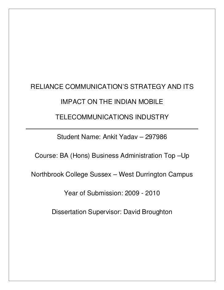 Dissertation communications