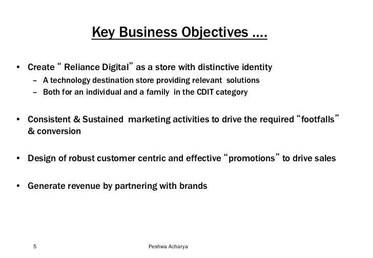economic objectives of reliance company Definition firm:- firm is a business organisation that buys or hires factors of production in order to produce goods and services that can be sold at a profit objective of firm:-the standard economic assumption underlying the analysis of firms is profit maximization.