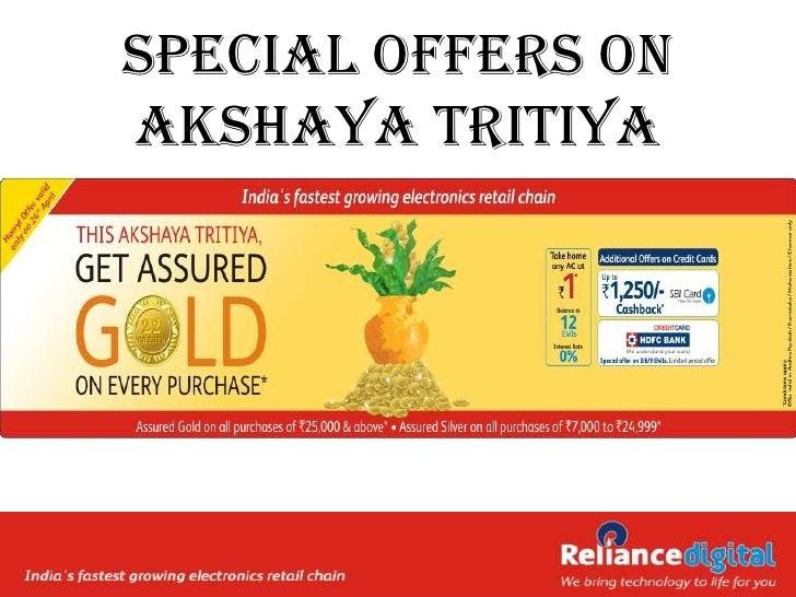 Special Offers onAkshaya Tritiya