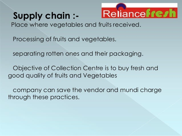 objectives of reliance fresh External evaluation of acf fresh food voucher project  specific objective to diversify the diet of  many refugee households lack the resources for self-reliance.