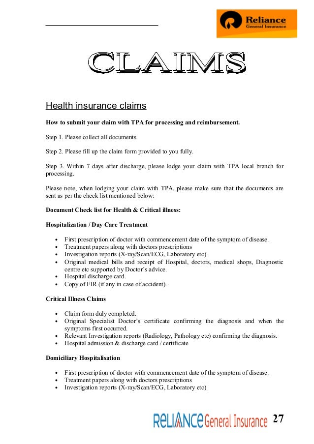 medical certificate for insurance claim