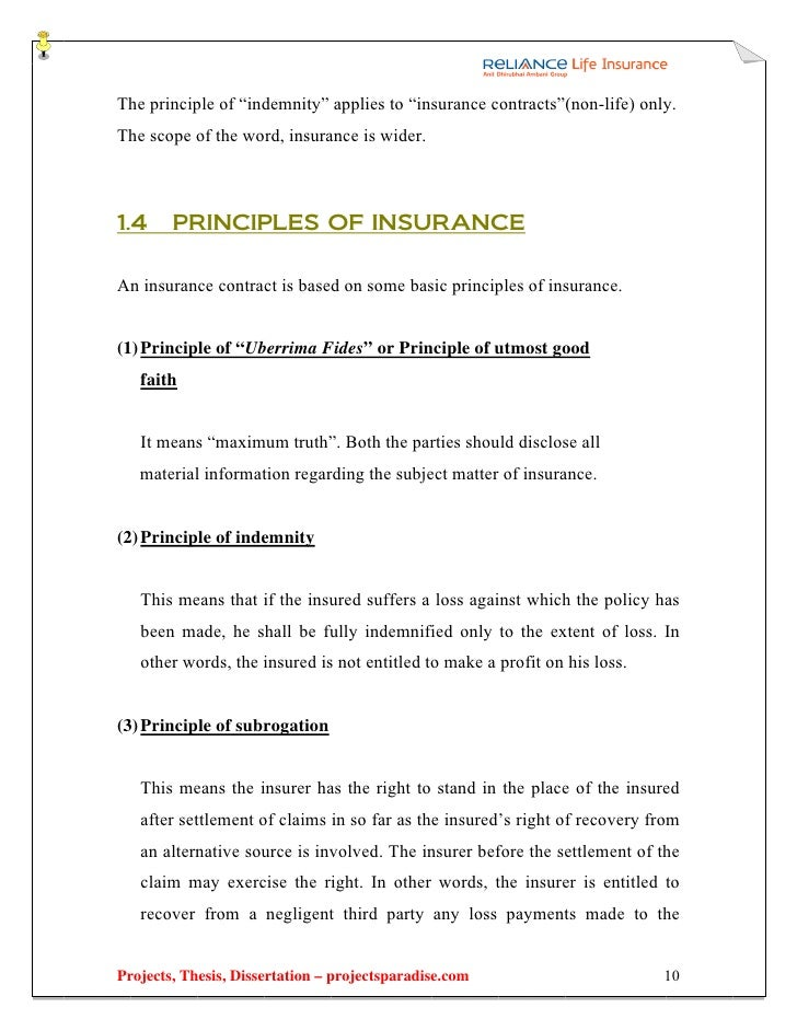 non life insurance thesis That influence the development of the insurance sector, including both life and non- life sector the paper contributes to the body of the existing research by the thesis for testing the h2 hypothesis we carry out the regressions for every instituti- onal variable in part (table 2 and table 3) their simultaneous use causes.