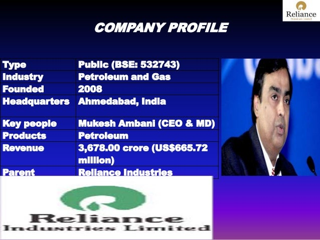 RELIANCE PETROLEUM PRESENTATION