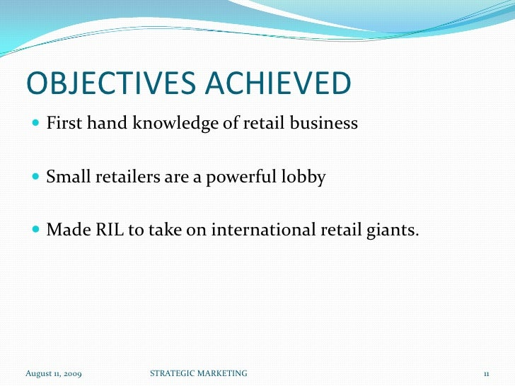 objectives of reliance retail Mintel's international team of retail industry experts can help your business grow up.