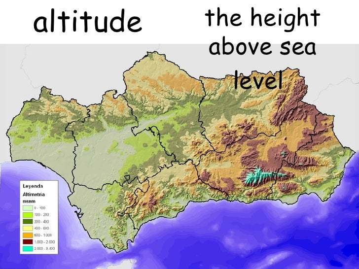 Relief - Altitude above sea level map