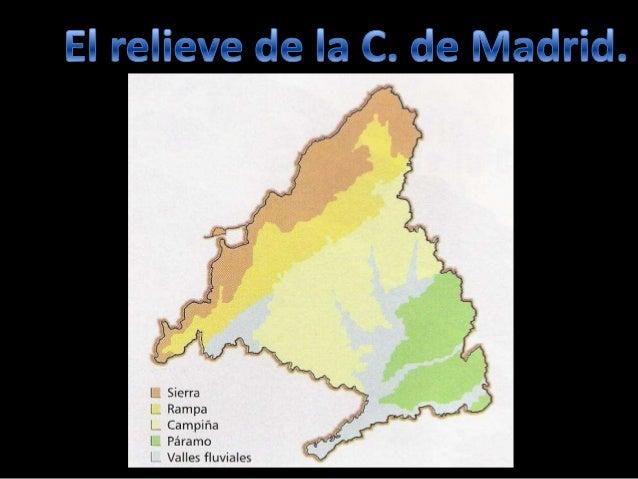 LA COMUNIDAD DE MADRIDSe encuentra en el centrode la Península Ibérica.- Se sitúa en la Meseta Central.Limita con las prov...
