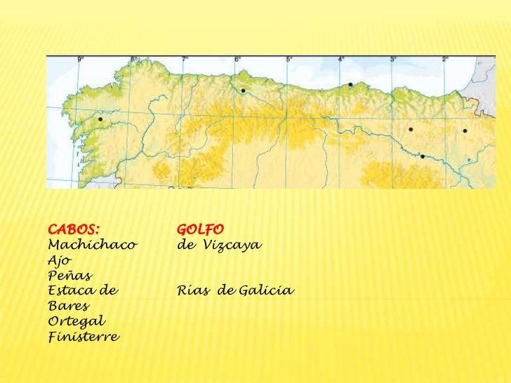 Cabo De Machichaco Mapa.Relieve Costero