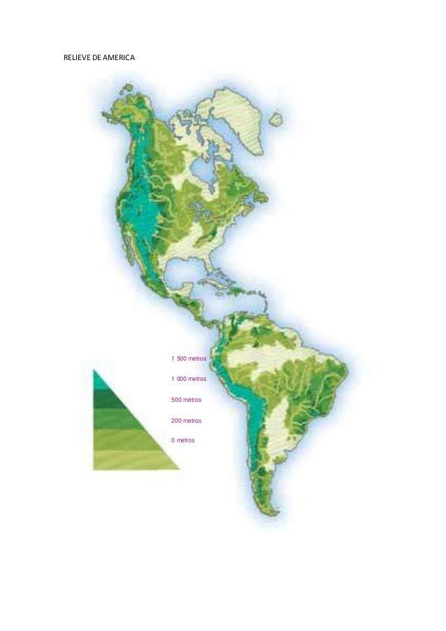 RELIEVE DE AMERICA 1 500 metros 1 000 metros 500 metros 200 metros 0 metros