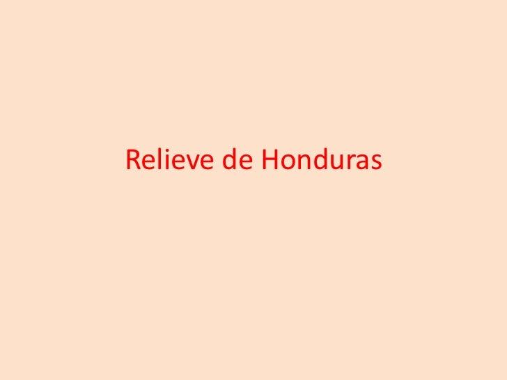Relieve de Honduras<br />