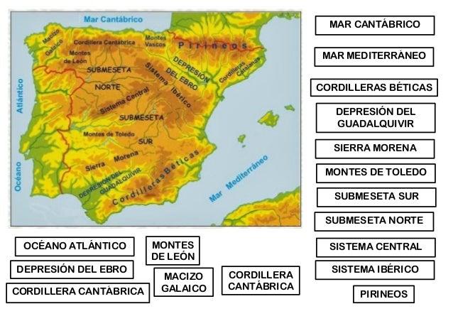 Relieve Espana Mapas