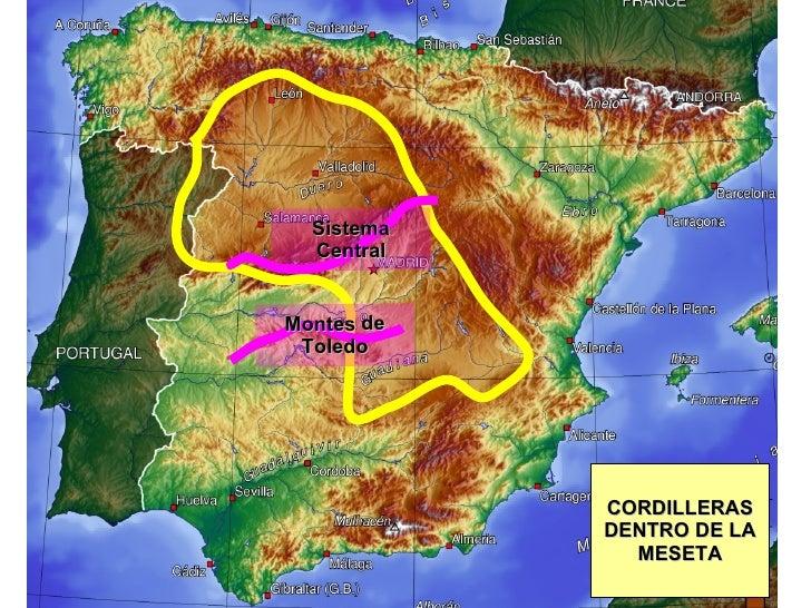 Sistema Central Montes de Toledo CORDILLERAS DENTRO DE LA MESETA