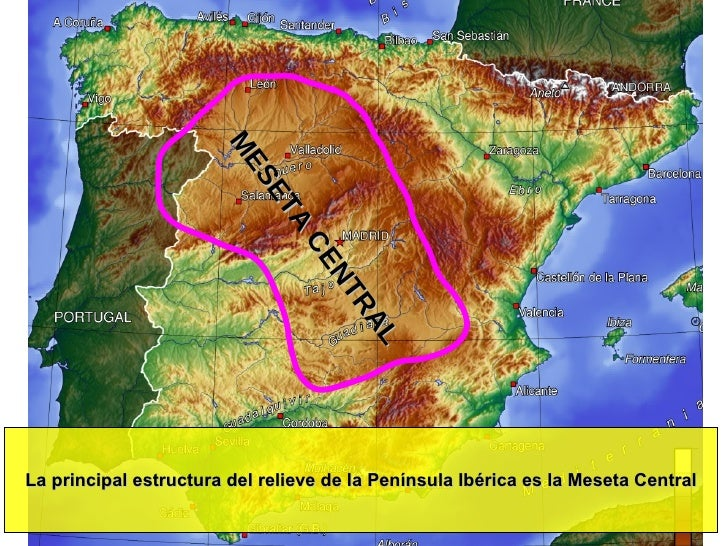 Relieve Físico de España Slide 2