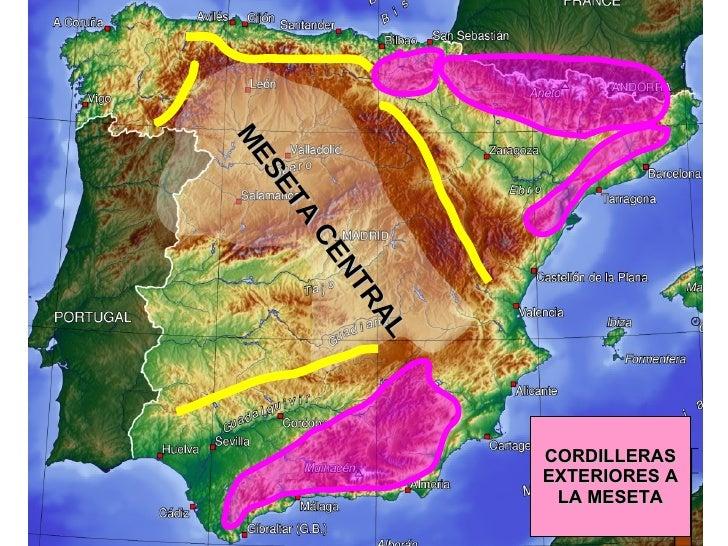 CORDILLERAS EXTERIORES A LA MESETA MESETA CENTRAL