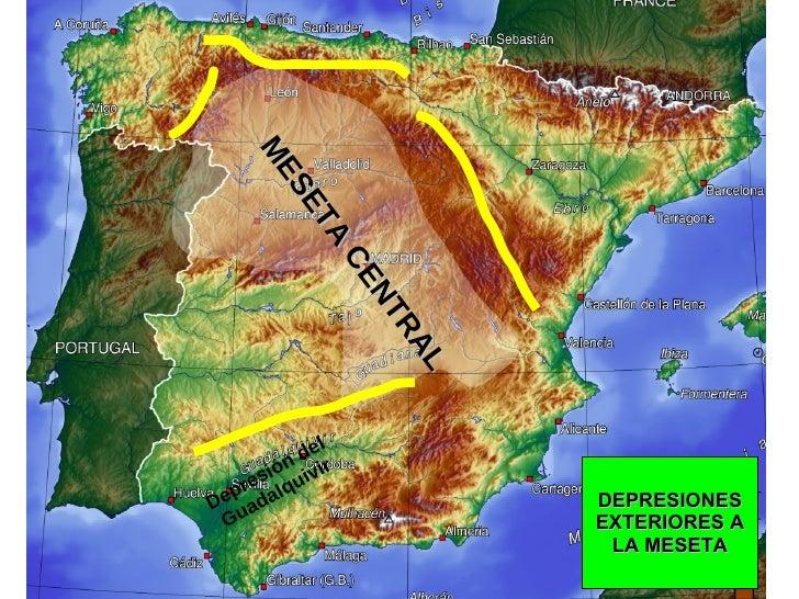 DEPRESIONES EXTERIORES A LA MESETA MESETA CENTRAL Depresión del Guadalquivir