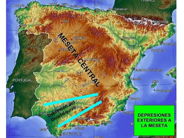 MESETA CENTRAL DEPRESIONES EXTERIORES A LA MESETA Depresión del Guadalquivir