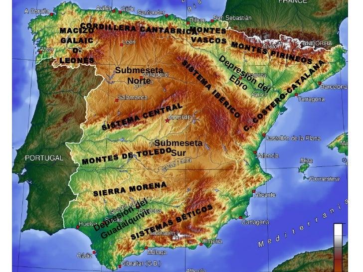 CORDILLERA CANTÁBRICA SISTEMA CENTRAL MONTES DE TOLEDO SIERRA MORENA SISTEMAS BÉTICOS SISTEMA IBÉRICO MONTES PIRINEOS Subm...