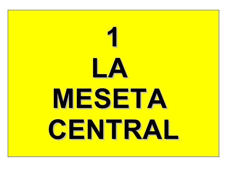 1 LA  MESETA  CENTRAL