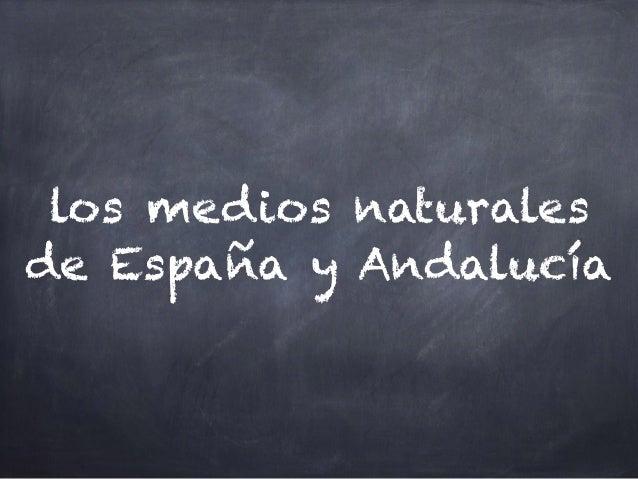 los medios naturales de España y Andalucía