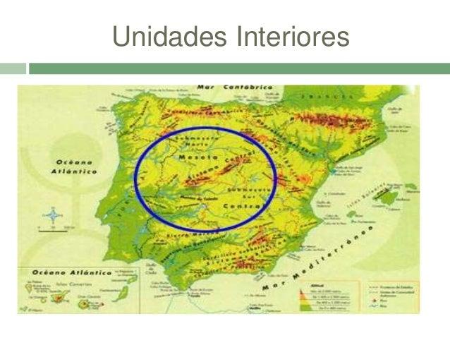 Rio Tambre Mapa Fisico.Relieve Y Rios De Espana