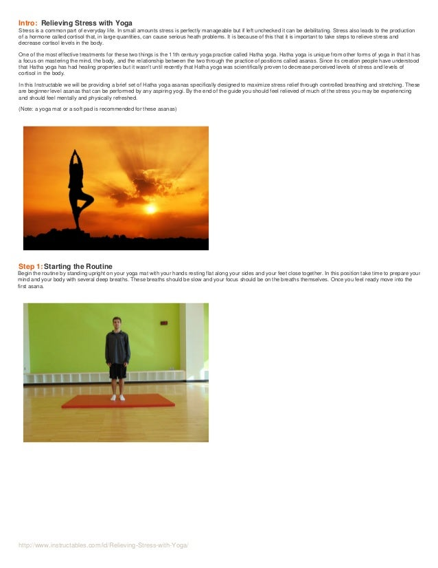 Relieving stress-with-yoga  Slide 2