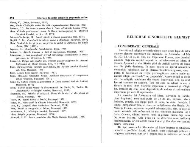 394 Istoria Ei filosofia religiei Ia pop-oqelg ryfe PArvan, Y., Getica, Bucuregti, 1982; ldr;rtt Dacia. Civilimtiite antic...