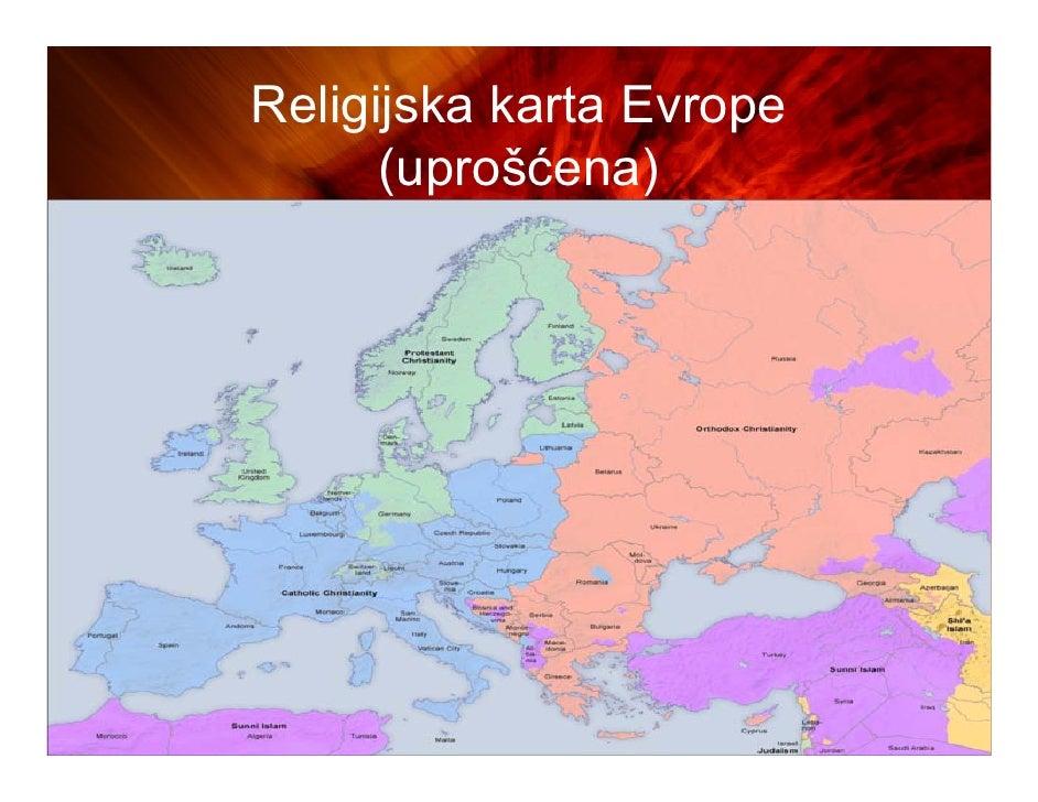 mapa evrope 2010 Religije sveta mapa evrope 2010