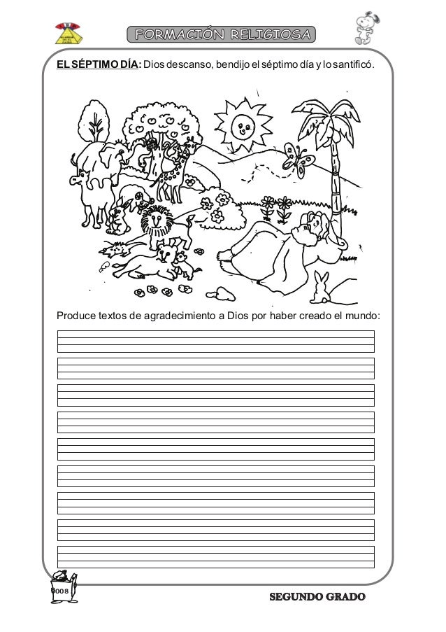 hojas de trabajo religion