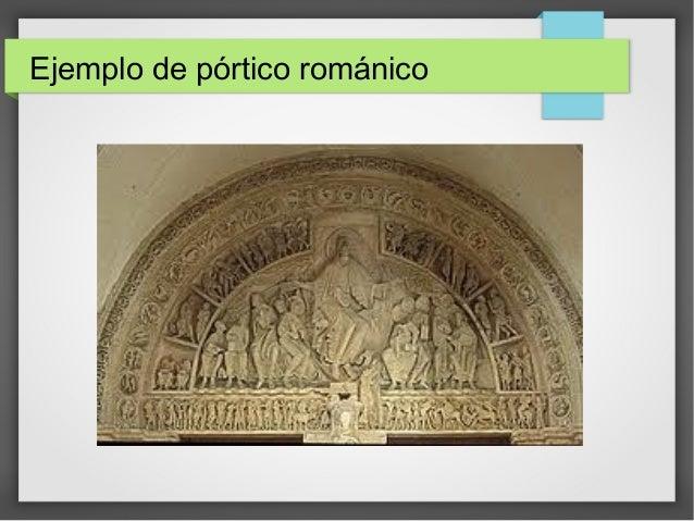 Ejemplo de pórtico románico