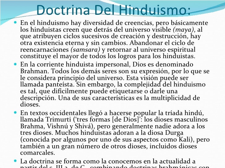 Religi n hinduista - Principios del hinduismo ...