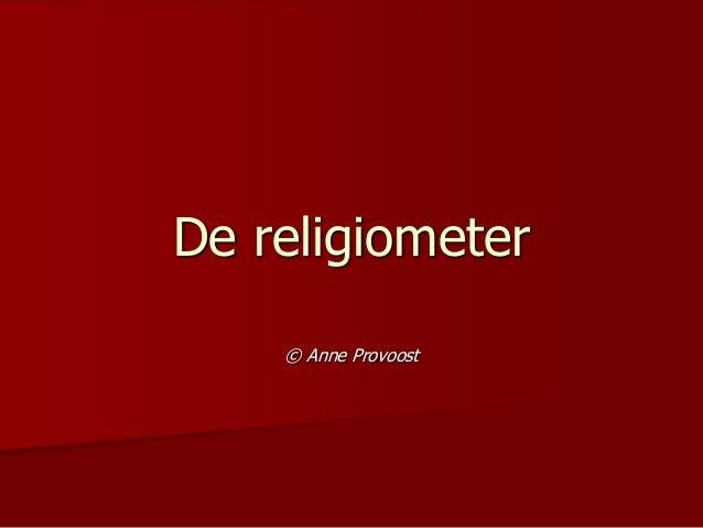 De religiometer © Anne Provoost