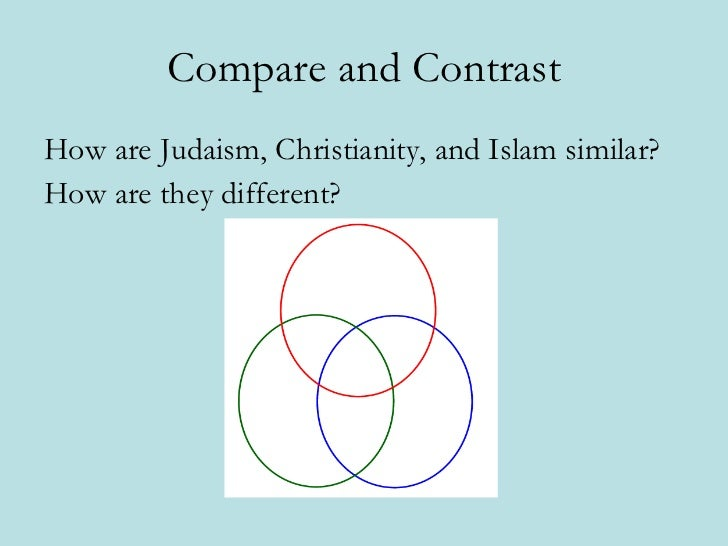 Compare and Contrast 2 Different Religions&nbspEssay