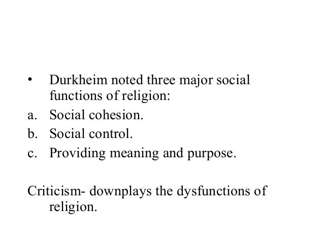 functions of religion in society