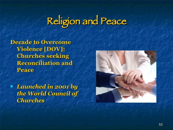 a message of peace and reconciliation mercy religion essay In the following essay,  to the koranic message of peace and mercy as a call  and palestinians who believed in reconciliation, peace and sharing the land, and .