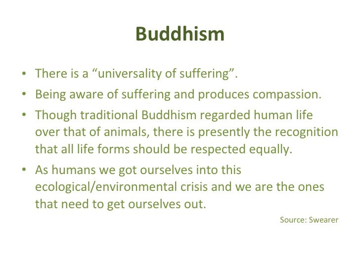 the importance of the environment in the religion of buddhism The buddhist perception of nature: buddhism teaches the importance of preserving life in them and for their environment buddhist conservation.