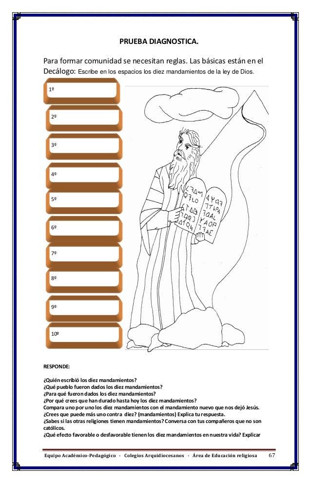 Vistoso Diez Mandamientos Hojas De Trabajo Católica Componente ...
